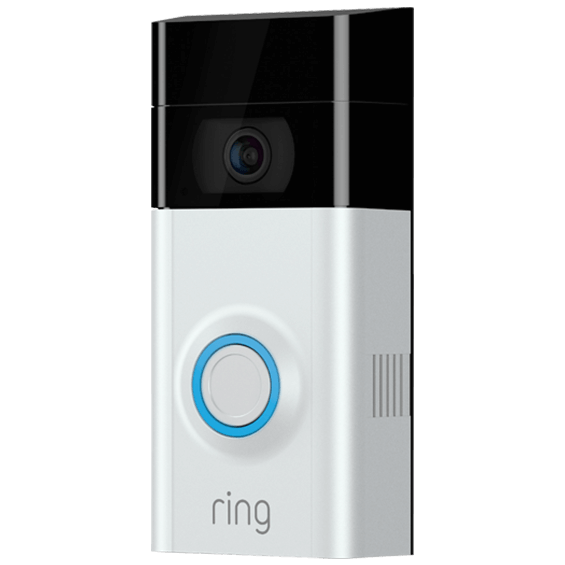 Front left angle view of Ring Video Doorbell 2