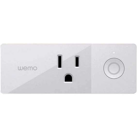 Vista frontal de enchufe inteligente Belkin Wemo Mini