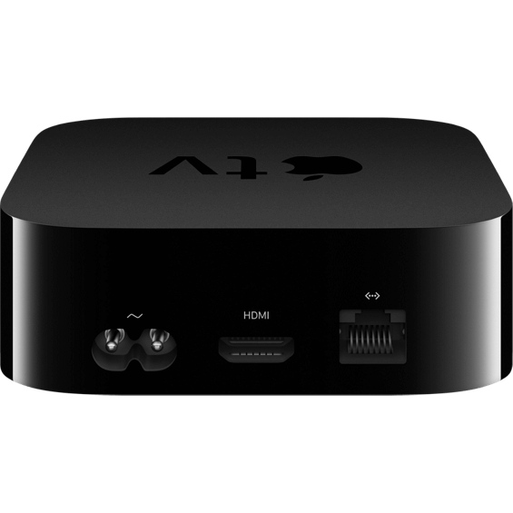 Front view of Apple TV 4K 64GB device