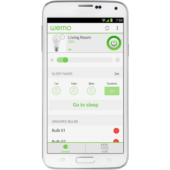 Product view of Belkin WeMo LED Lighting Starter Set with iPhone app