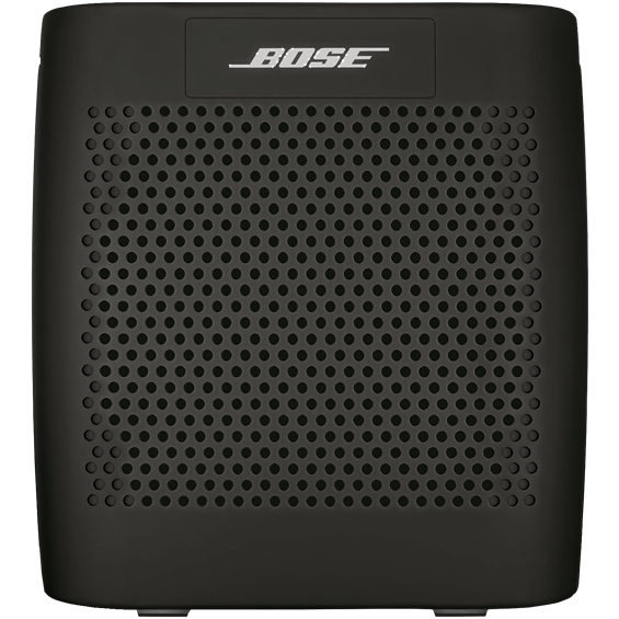 Front view of Black Bose SoundLink Speaker