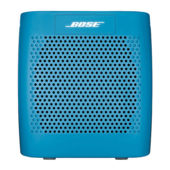 Front view of Blue Bose SoundLink Speaker