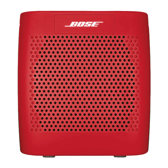 Front view of Red Bose SoundLink Speaker