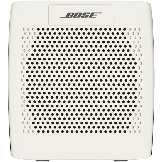 Front view of White Bose SoundLink Speaker