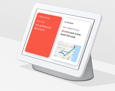 Image of Google Nest Hub showing help at a glance