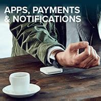 Aplicaciones, pagos y notificaciones