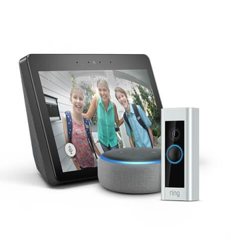 Imagen que muestra dispositivos que funcionan conAlexa