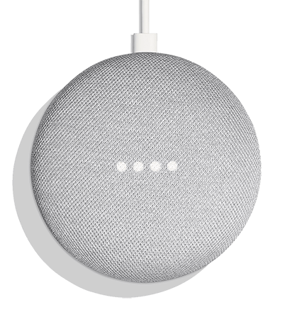 Top view of Google Home Mini