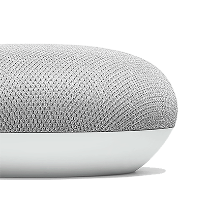 Side view of Google Home Mini