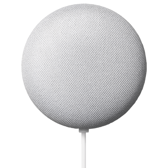 Chalk Google Nest Mini product image closer front view