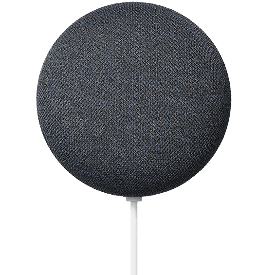 Charcoal Google Nest Mini product image closer front view