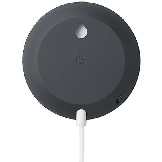 Charcoal Google Nest Mini product image back view