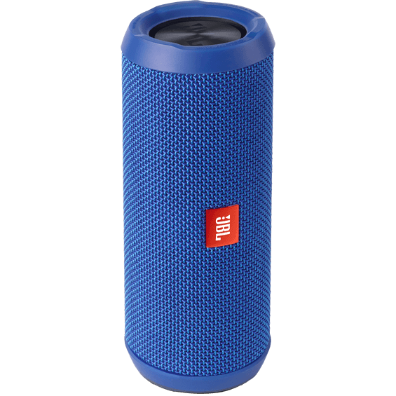 Front view of Blue JBL Flip 3 Speaker
