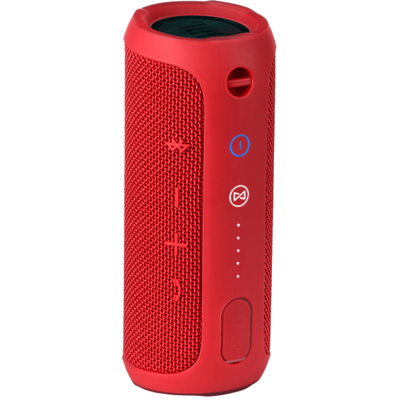 Back view of Red JBL Flip 3 Speaker