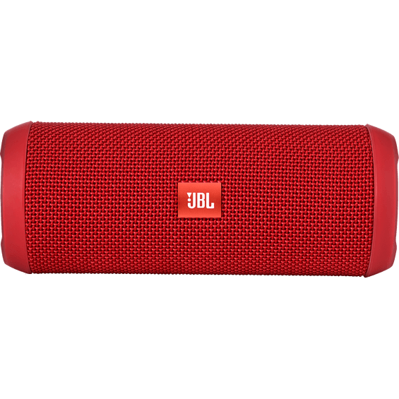 Front horizontal view of Red JBL Flip 3 Speaker