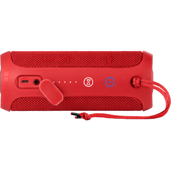 Back horizontal view of Red JBL Flip 3 Speaker