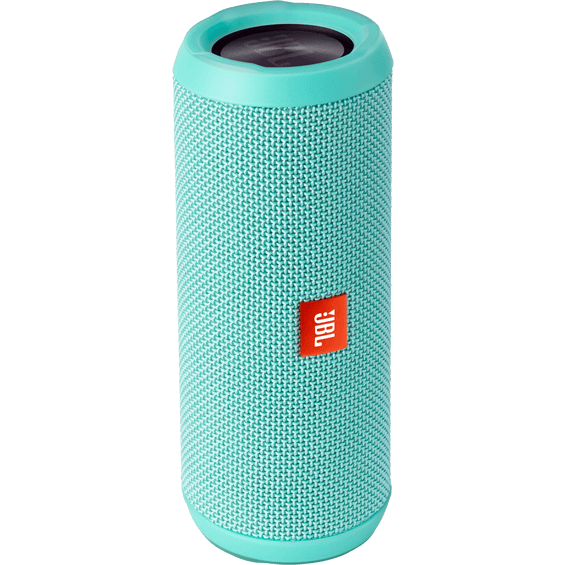 Front vertical view of Teal JBL Flip 3 Speaker