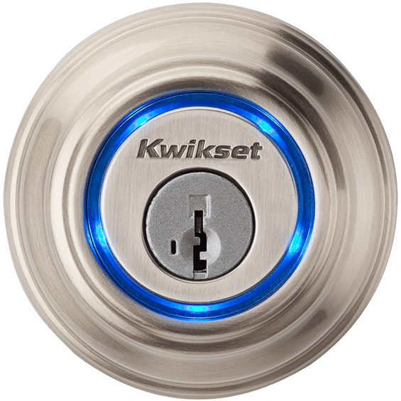 Outdoor view of Nickel Kwikset Kevo