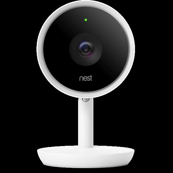 Vista frontal de la Nest Cam IQ Indoor