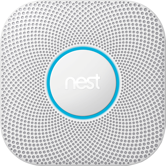 Front view of Nest Protect smoke and carbon monoxide alarm