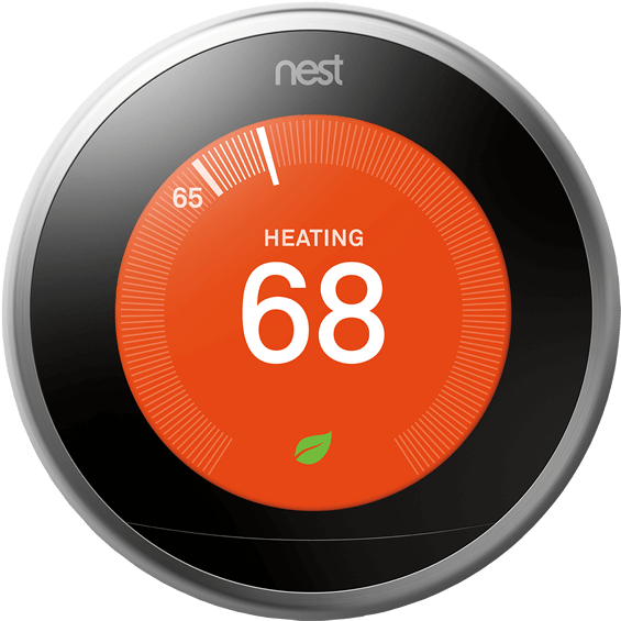 Front view of Nest Learning Thermostat