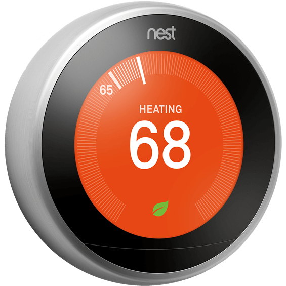 Angle view of Nest Learning Thermostat