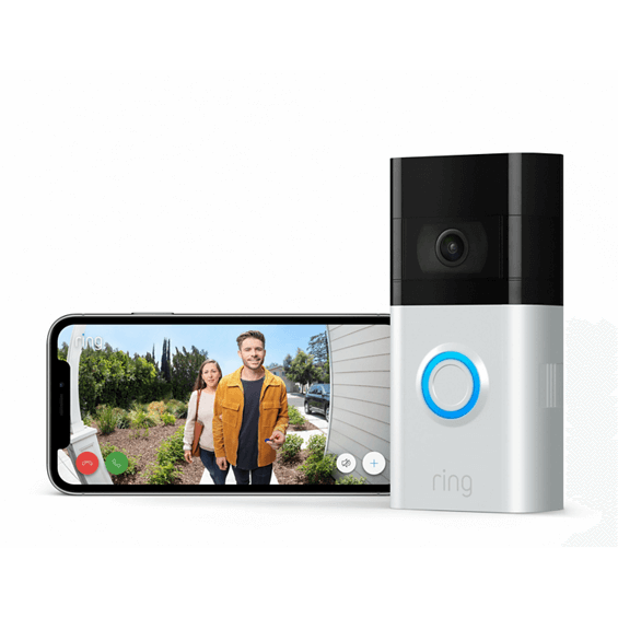 Ring Video Doorbell 3 with app on mobile phone