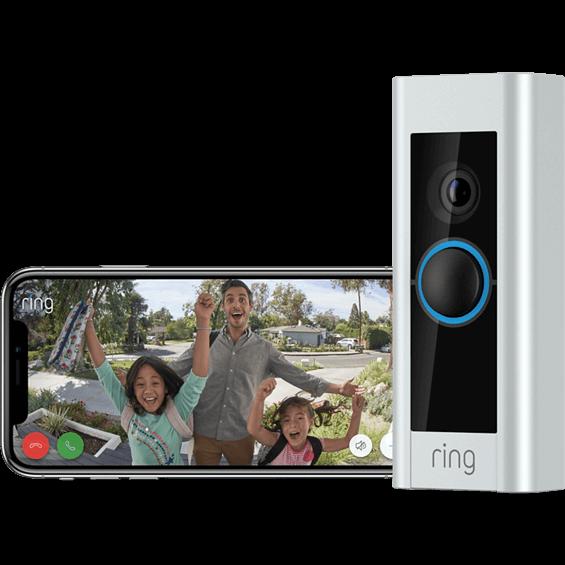 Timbre con sistema de video Pro Ring con aplicación en teléfono móvil