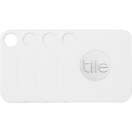 Front view of 4 Tile Mate Bluetooth Trackers