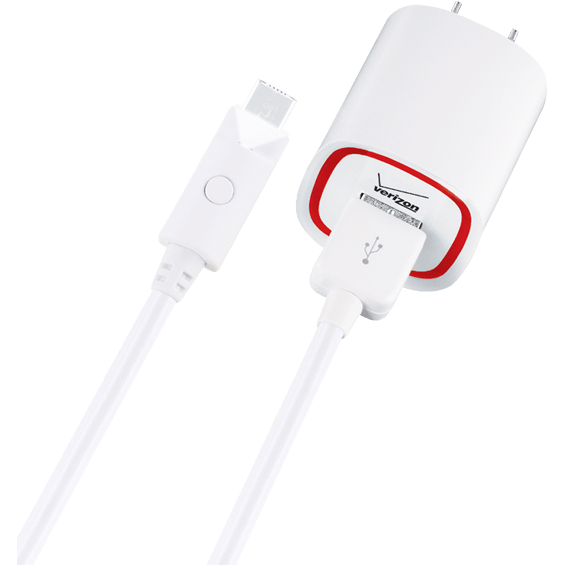 Product view of White Wall Charger for Micro USB