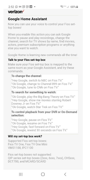 Google Home Assistant Screen.