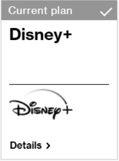 Current plan - Disney+
