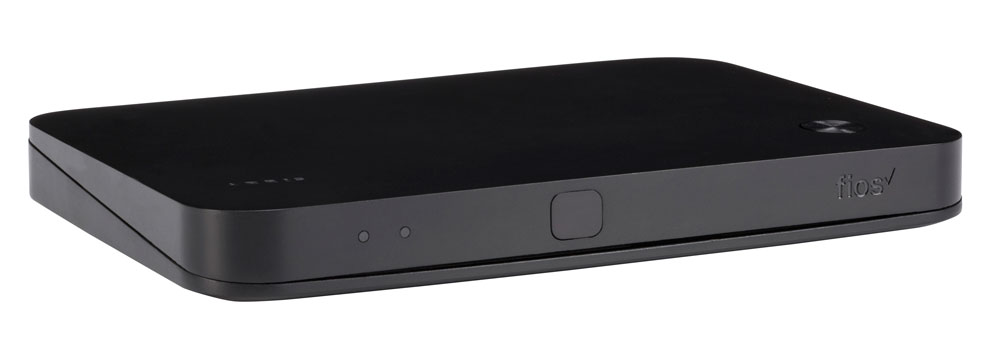 Fios TV One Mini Media Server - black box about 5 inches by 4 inches by 1 inches