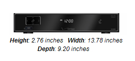 Cisco CHS 435 HD DVR - black box, 2.8 inches high, 13.78 inches wide and 9.2 inches deep