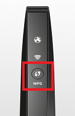 Fios Quantum Gateway device showing front view of device location of WPS button.