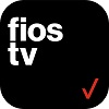 Fios TV logo - black logo with the words 'fios tv' and a red check mark
