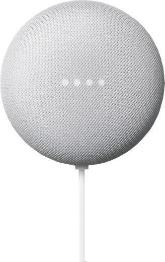Google Nest Mini - grey hockey puck like device