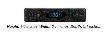 IPC1100 Media Server - Black box 1.6 inches high, 6.1 inches wide and 5.1 inches deep